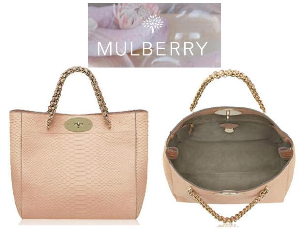 Mulberry Cecily Tote Nude Snake SS13