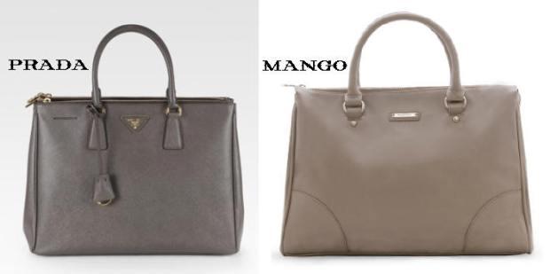 Prada Saffiano Luxe Grey_Mango Logo Plate Tote Stone