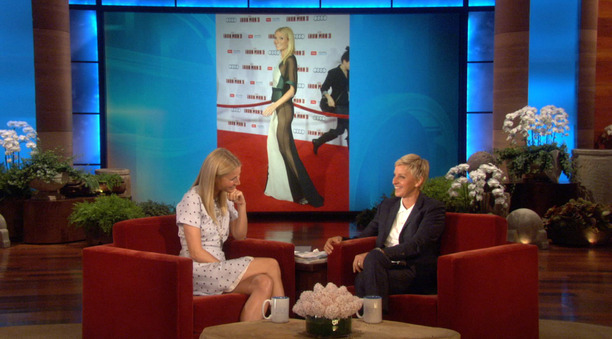 Gwyneth Paltrow Ellen DeGeneres Show Iron Man 3 dress