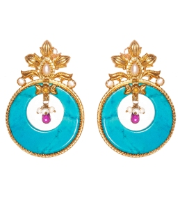 Turquoise earrings Kasturjewels