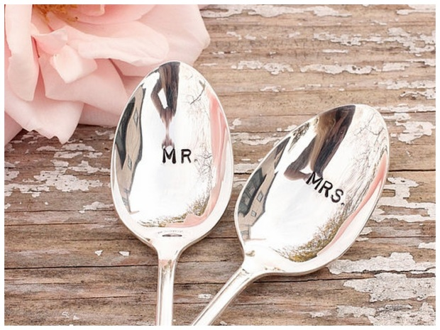 Wedding cutlery Mr Mrs