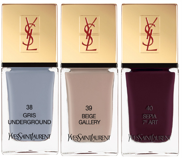 YSL 2013 Autumn Winter Makeup Collection Nailpolish Gris Beige Sepia