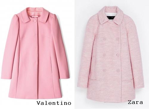 Valentino Zara pink coat 2013