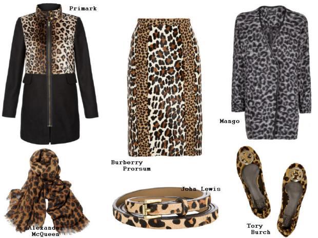 Leopard Print Primark Mango Burberry John Lewis McQueen Tory