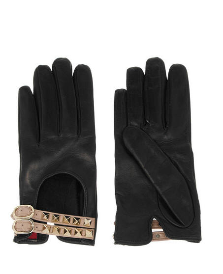 Valentino studded gloves black1